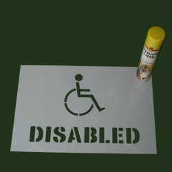 Disabled Sign Stencil For marking out safety zones