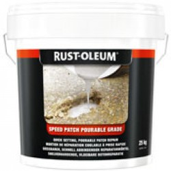 Rustoleum pourable speed patch for concrete repair pourable grade
