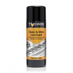 Tygris Chain and Wire Lubricant Anti-fling lubricant reinforced with molybdenum disulphide