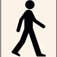 Rigid PVC Film Walking Man Stencil 400 x 600mm