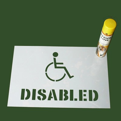 Disabled Space Stencil