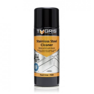 Tygris Stainless Steel Cleaner NSF F420 - Metal polish and cleaner